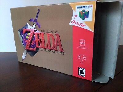 The Legend of Zelda: Ocarina of Time Box Only N64 Replacement Art Box! Nintendo!