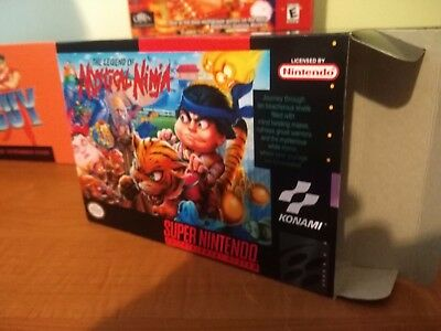 The Legend of the Mystical Ninja Box Only SNES Replacement Art Case/Box!!