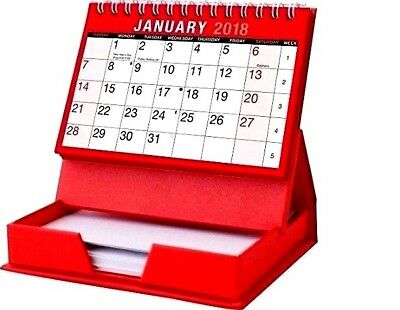 2018 Month To View DESK TOP CALENDAR WITH MEMO PAD - WH2 - R6C : 470 : NEW