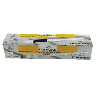 Durable A4 Black 6mm Spinebars (Pack of 100) 2901/01
