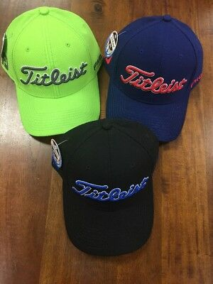 Titleist Dobby Tech Lot Of 3 Fitted Hats Size M/L NWT NR Retail $84 718 Scotty
