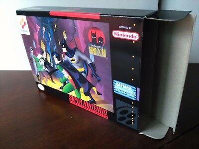 The Adventures of Batman and Robin Box Only SNES Replacement Art Case! Nintendo!