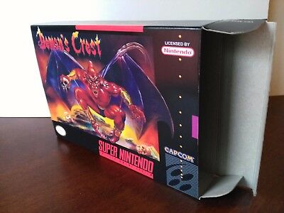 Demon's Crest Box Only SNES Replacement Art Case! Nintendo! COMPLETE YOUR GAME!