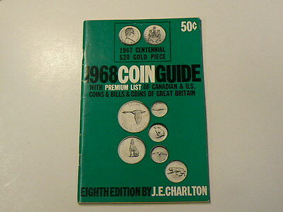 1968 Coin Guide Premium List Canadian US & Great Britain by Charlton Book #G7451