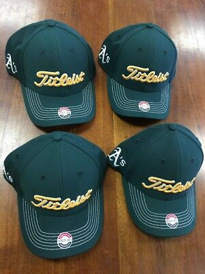 Titleist Oakland A's Fitted Hats Lot Of 4 NWT NR Size M/L MLB Retail $128 718