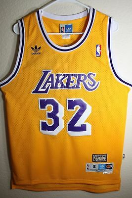 NWT Los Angeles Lakers Magic Johnson Yellow 32 Swingman Basketball Men Jersey
