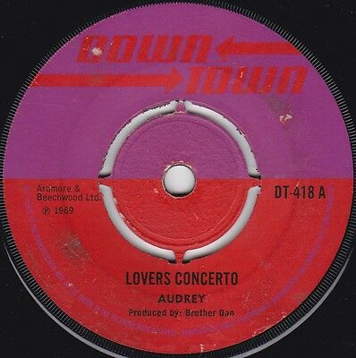 Audrey - Lovers Concerto UK 45 Down Town Reggae Ska Herbie Grey - Along Came Roy