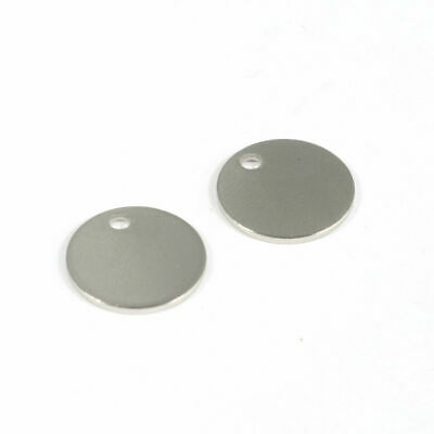 20PCS 304 Stainless Steel Charms Flat Round Blank Stamping Tag Charms 12x1mm