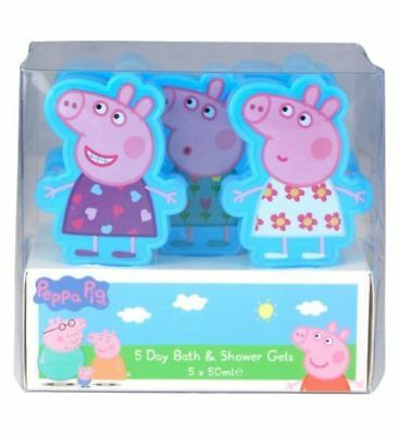 Brand New Peppa Pig Kids Bath & Shower Gels 5 x 50ml For Ages 2 Years+