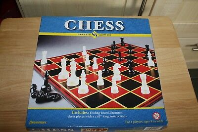 BOXED PRESSMAN CLASSIC GAMES CHESS SET - UNUSED and COMPLETE