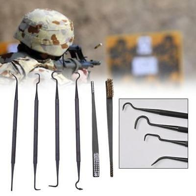 6pcs Gun Cleaning Tool Set Clean Picks Brush Carbon Rifle Pistol Double Ended