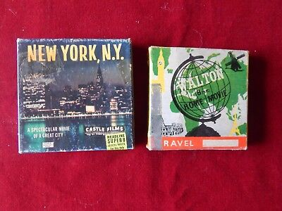 2X Old 8mm? Reels Walton & Castle Films New York NY & Wild Animals Of S. Africa