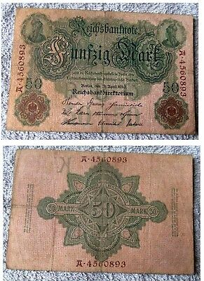 Lovely 107 Years Old Germany Banknote In Nice Used Condition Dated April 1910