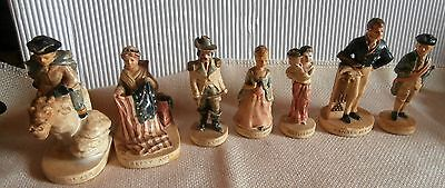 Early P W Baston Marblehead Figurine 1949 ...lot  of  7   signed