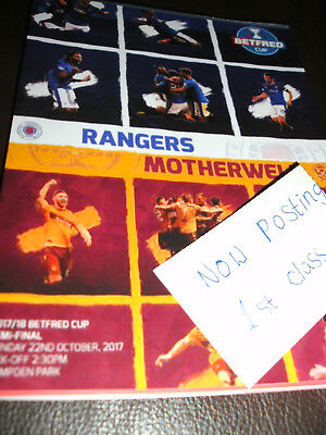MOTHERWELL  v RANGERS  22nd OCTOBER 2017  ( LEAGUE CUP )