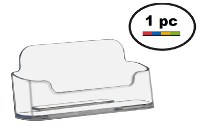 One Acrylic Plastic Business Card Holder Deflecto Style , Clear  Rounded edge