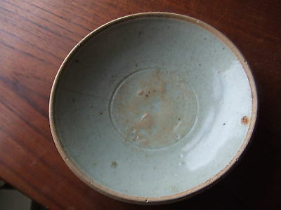CHINA.  SUNG DYNASTY.  12th/13th CENTURY  BLUEISH GLAZED POTTERY DISH,  SUPERB