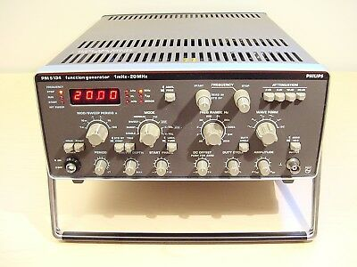 Philips PM5134 Function Generator 0.001 Hz to 20 MHz Includes Manual