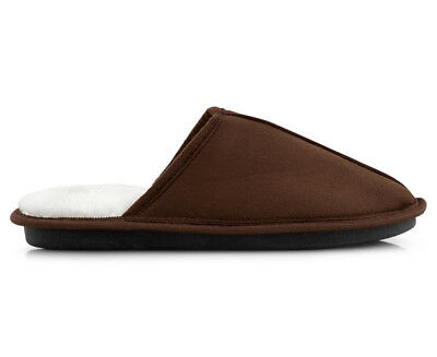 Men's New Faux Fur Slipper - Brown