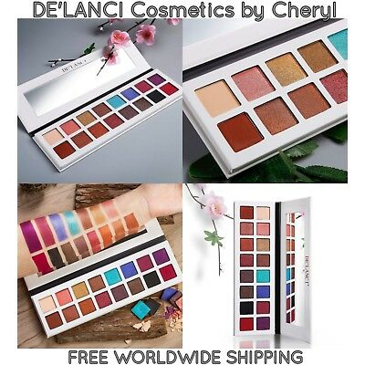 DE'LANCI DELANCI 16 Pan Shimmer & Matte Eyeshadow Palette *New for Autumn 2017*