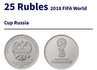 25 Rubles 2018 FIFA World Cup Russia From U.K. Seller