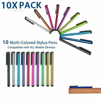 10x Universal Capacitive Touch Screen Stylus Pen for all iPhone Phones iPad