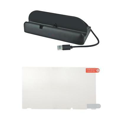 Smooth HD Film Screen Protector +USB Charging Dock for Nintendo Switch