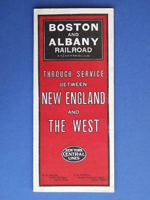 Boston And Albany Railroad 1913 Railway Timetable Brochure Booklet.