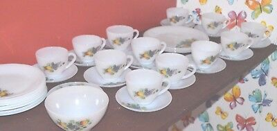 Set of 37 pieces Acropal France, Fruit Of France Pattern. Vintage