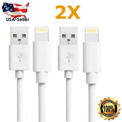 2-Pack New Apple iPhone 6 7 5s SE Lightning USB Data Cable Charger - 3 ft