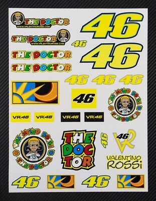 Vale Rossi The Doctor 46 MotoGP motorcycle car decals badge 26 stickers set
