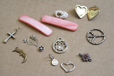 Mixed Lot of Various Jewelry Pendants and Misc Items