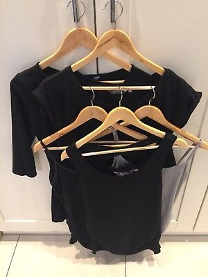 New Look Maternity Bundle - Black T-shirts And Vests - Size 12