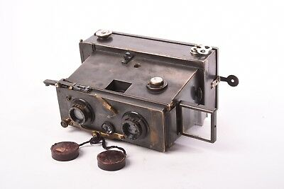 Rare Verascope stereo camera by Jules Richard. Format 6x13cm with 116 film back