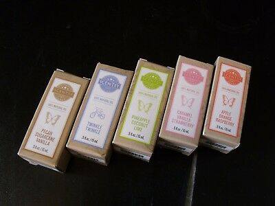 LOT OF 5 SCENTSY 100% NATURAL OILS (.5 oz. EACH) (NEW IN BOXES)