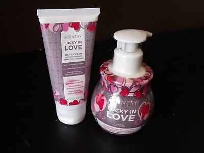Scentsy Lucky In Love Hand Cream & Lotion Set (Both Are New)