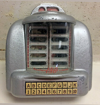1950's Seeburg 100 Jukebox Wall Box Painted Wall O Matic Model 3W1