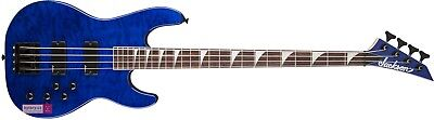 Jackson JS3QM-TBL 4 String Concert Bass Transparent Blue - NEW!