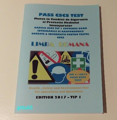 Cscs Book Language Romanian 2017 Tip1 *100 % Pass * Carte Cscs Lb.romana 2017