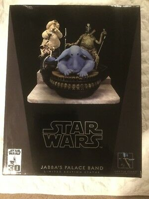 Star Wars Gentle Giant Jabba's Palace Max Rebo's Band Statue Set  /2500 New!