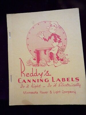 Vintage   Rare Reddys Canning Labels Minnesota Power & Light Company