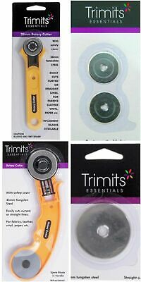 Trimits Essentials Roller Rotary Cutter - Quilting Craft Sewing Fabric - Spares