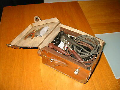 Old Vintage Heavy Duty AVO Meter + Original Leather case Electrical Test Tools