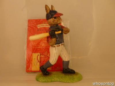 Royal Doulton Bunnykins - Home Run Hero ( Baseball ) Bunnykins DB446 - BNIB