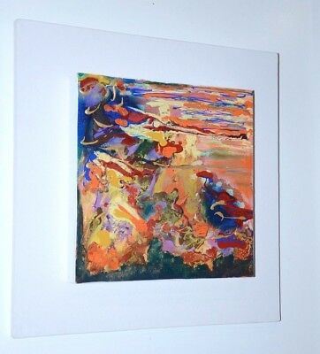 """"""" SETTINGS """"  ORIGINAL PAINTING MOUNTED ON 18 X 18 CANVAS by ANNETTE SABBAH"""