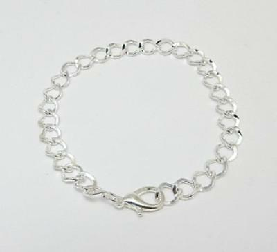 """Link bracelet 20 cm jewellery making charms silver plated lobster clasp 7 7/8"""""""