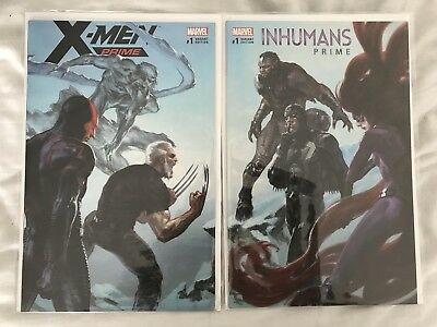 X-men prime #1 & Inhumans Prime #1 Dell Otto Set marvel comics