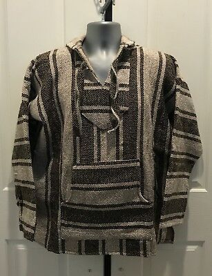 Hand Made Guatemalan Sweater Poncho, Tan/BROWN