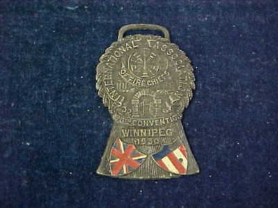 Original Vintage Fob Device Manitoba 1930 International Fire Chiefs Convention