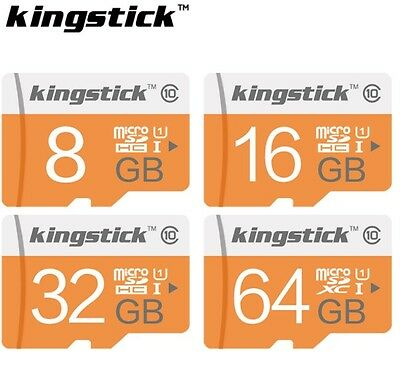 Tarjeta Memoria Micro SD 8 / 16 / 32 / 64 GB Kingstick Clase 10 flash Microsd